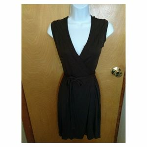 Gap brown wrap dress - size XS, great condition!